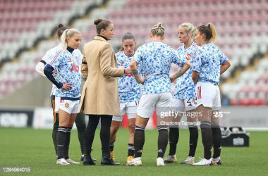 """""""It's a game of football, we'll be prepared to play against the eleven players Man City put out"""" - Casey Stoney ahead of the Manchester Derby on Women's Football Weekend"""