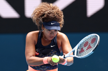 Osaka's backhand was pivotal in her comeback against Muguruza (Cameron Spencer/Getty Images)