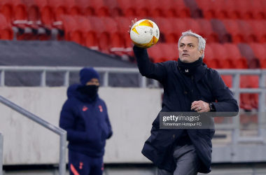 Jose Mourinho in Budapest | Photo by Tottenham Hotspur FC/Tottenham Hotspur FC via Getty Images