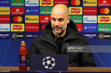 Pep Guardiola pre-Borussia Dortmund \ Laszlo Szirtesi - UEFA/Getty Images
