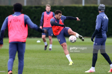 Southampton training for their FA Cup quarter final vs AFC Bournemouth