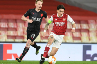 Bellerin was captain for Thursday's game against Slavia Prague (Photo by Stuart MacFarlane via Getty Images)
