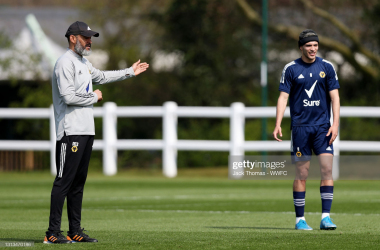Raul Jimenez is back training with Wolves now.(Photo by Jack Thomas - WWFC/Wolves via Getty Images)