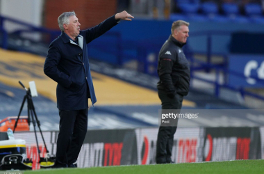 Carlo Ancelotti was underwhelmed by his team in their defeat to Aston Villa (Photo by Peter Byrne - Pool/Getty Images)