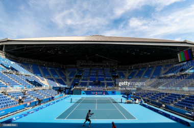 A photo of the main court at the Ariake Tennis Park/Photo: Buda Mendes/Getty Images