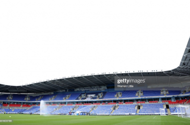 The Madejski Stadium is pictured ahead of the pre-season friendly between Reading and Crystal Palace at Madejski Stadium on July 31, 2021 in Reading, England. (Photo by Warren Little/Getty Images)