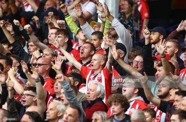 Getty/Matt Watson - Southampton fans at Everton last week.