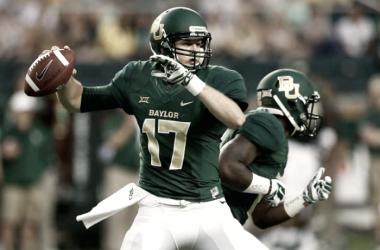 Seth Russell, QB di Baylor, visionato dai Cowboys. Fonte Immagine: www.heavy.com