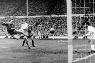 St John's goal vs Leeds. 1965 FA Cup final.