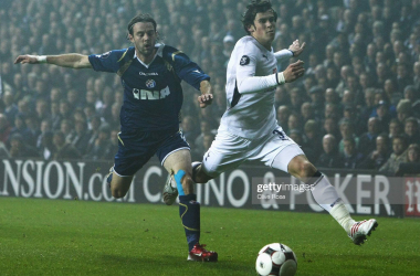 Mihael Mikic and Gareth Bale at White Hart Lane, 6 November 2008 | Photo by Clive Rose/Getty Images