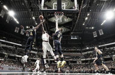Oladipo contra Cleveland/ Foto: NBA.com