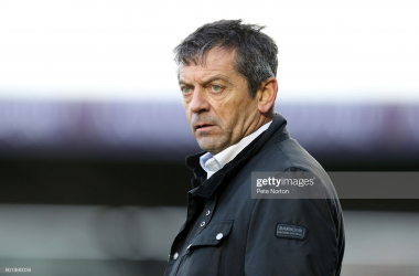 NORTHAMPTON, ENGLAND - JANUARY 06: Southend United manager Phil Brown looks on during the Sky Bet League One match between Northampton Town and Southend United at Sixfields on January 6, 2018 in Northampton, England. (Photo by Pete Norton/Getty Images)
