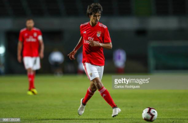 Joao Felix in action for Benfica (Images from Getty Images/Carlos Rodrigues)