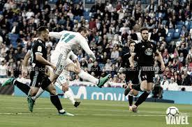 Gareth Bale realizando un remate a la portería del conjunto gallego/Dani Nieto
