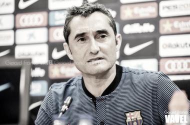 Ernesto Valverde en rueda de prensa | Foto: Gerard Franco, Vavel