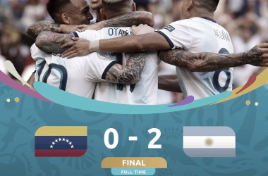 Festejo por la victoria / Foto: Twitter de Copa América oficial