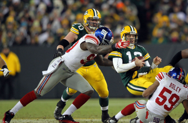 Aaron Rodgers will be hoping for more protection this Sunday. Photo: CBS News