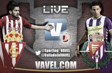 Resultado Sporting de Gijón - Real Valladolid en la Copa del Rey 2015 (1-3)