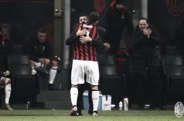 Vitória do Milan serviu de alívio principalmente pra Gattuso e Higuaín (Divulgação/AC Milan)