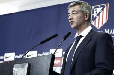 Gil Marín durante una rueda de prensa   Atlético de Madrid