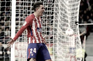 Josema celebra el primero gol de la noche. FOTO: ATM.