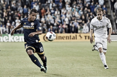 Giovani dos Santos scored the Galaxy's equalizer against Sporting Kansas City. | Photo: USA Today Sports