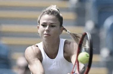 Camila Giorgi venceu Aryna Sabalenka noWTA 500 de Eastbourne 2021 (WTA / Divulgação)
