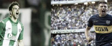 Calleri frente a frente con Simeone. Fotomontaje: Yanina Ramos.