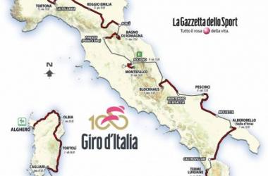 Le parcours du centième Giro d'Italia