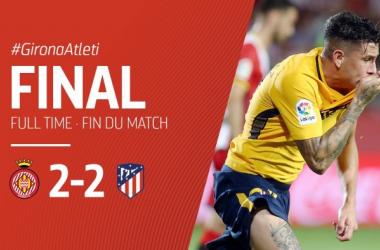 Gimenez sauveur de l'Atlético ce soir. (Twitter: @AtletiFR)