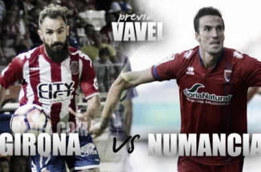 Pablo Valcarce, en imagen, anotó el gol de la última victoria del Numancia contra el Girona. Imagen: La Liga