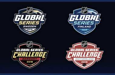 Logos de las Global Series 2018 | Foto: nhlpa.com