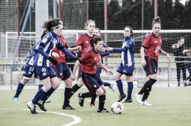 El Alavés femenino empató a cero en Pamplona. / Foto: CA Osasuna