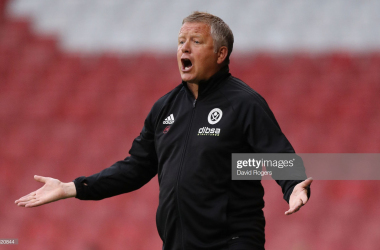 Chris Wilder has said he will be making changes for the game against Blackburn Rovers.(Photo by David Rogers/Getty Images)