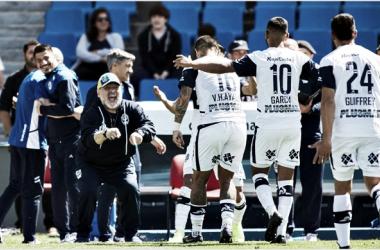 05/10/2019 Godoy Cruz 2-4 Gimnasia. Primera victoria de Maradona como DT del Lobo (FOTO: Prensa GELP)