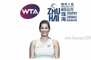 Julia Goerges is the defending champion here in Zhuhai