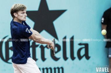 Goffin en acción durante el Masters 1000 de Madrid