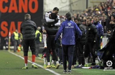 RDT y el cuerpo técnico celebrando un gol. Fotografía: La liga