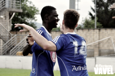 Ibrahima celebrando un tanto | Fuente: JB Monterrey / VAVEL
