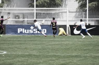 Celebración de gol del ascenso de la temporada pasada. Fotografía: Noelia Arroyo (Vavel)