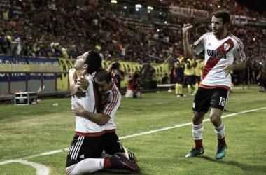 Driussi gol. El último amistoso del Superclásico fue para River 2-0. (Foto: web)