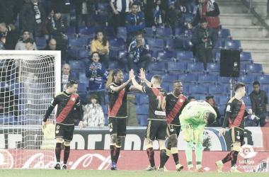 Jugadores celebrando un gol. Fotografía: La Liga