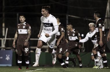 17/07/2021 Guillermo Fratta festejando el gol del empate (FOTO: Prensa Gimnasia)
