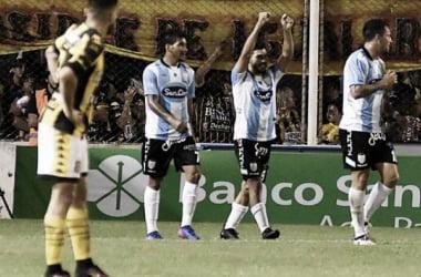 Gudiño festeja su gol. // Foto: TyC Sports.