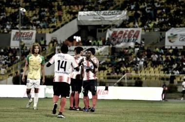 Celebración del gol de Hernández Foto: El Heraldo
