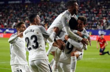 Celebración del gol de Montoro. Foto: Granada CF
