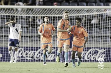 Celebrando un gol. Fotografía: La Liga