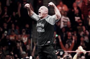 Goldberg returned in a major way. Photo- WWE.com
