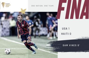 Estados Unidos venció 1-0 a Haití por el grupo B en Kansas City | Fotografía: U.S. Soccer