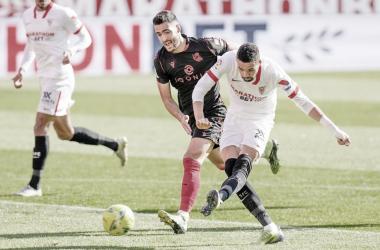En-Nesyri y Mikel Merino en el Sevilla - Real Sociedad. | Imagen: sevillafc.es